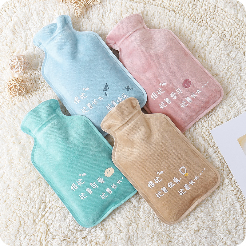 Home Heaters Home Appliances Cute Sealed Plush Mini Hot Warm Water Bottles Portable Girls Pocket Feet Hand Warmer Water Injection Organization Storage Bag The Latest Fashion