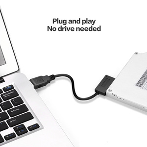 USB3.0 to Mini Sata II 7+6 13Pin Adapter Converter Cable for Laptop CD/DVD ROM Slimline Drive