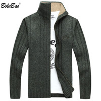 BOLUBAO 2018 Autumn New Men's Sweater Casual Pullover Men Neck Neck Patchwork Quality Knitted Brand Male Sweaters
