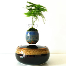 2016 japan high-tech products magnetic levitation air bonsai (no plant)ceramic flower pot culture 101 free shipping