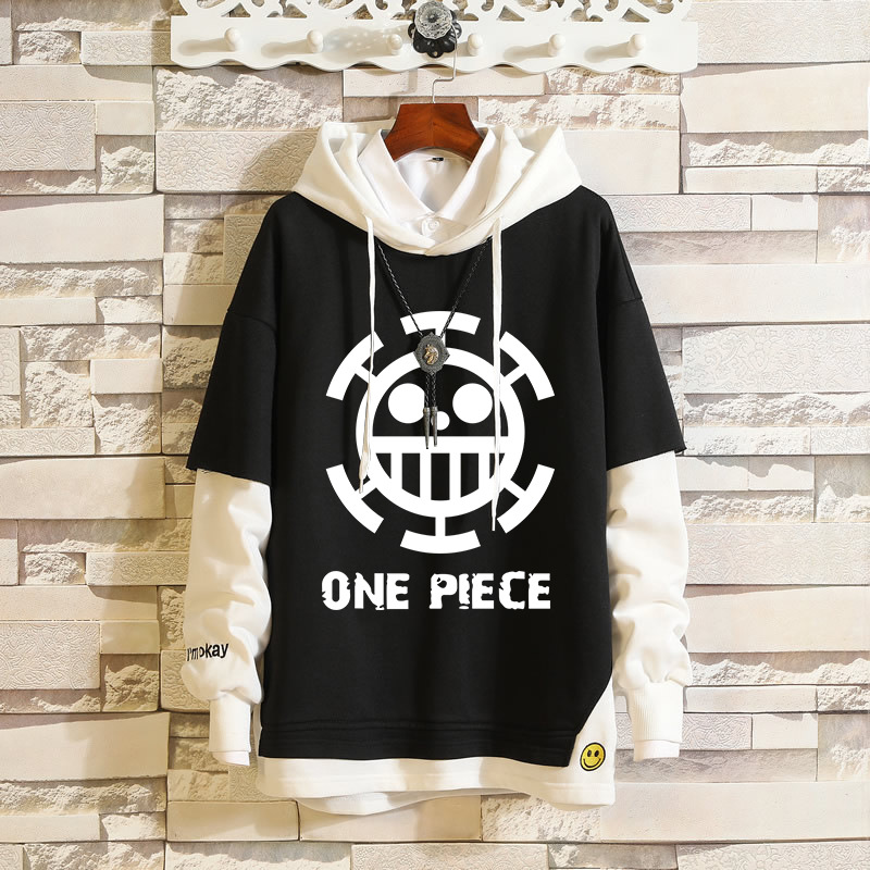 Japan Anime ONE PIECE Luffy Roronoa Zoro Cosplay Hoodie Sweatshirt Costume Spring&Autumn Men Women Pullover Fake Two Piece Coat