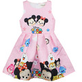 Children's Clothing Dress 2017 New European American Girls Fashion Princess Cartoon Printing With Cotton Lining Summer Vintage