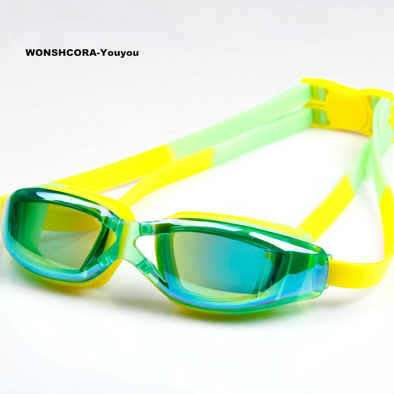 Youyou Children Swimming Glasses Professional Anti-fog Silicon Seals Swim Goggles High Quality Plating Frame Pool Super Light