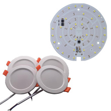 10pcs/lot LED SMD CHIP Downlight Ceiling light AC220V Input with Smart IC no driver 15W 18W for DIY