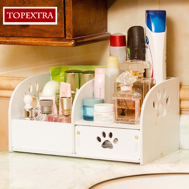 TOPEXTRA Three Colors Cute Cat Claw PVC DIY Cosmetic Organizer