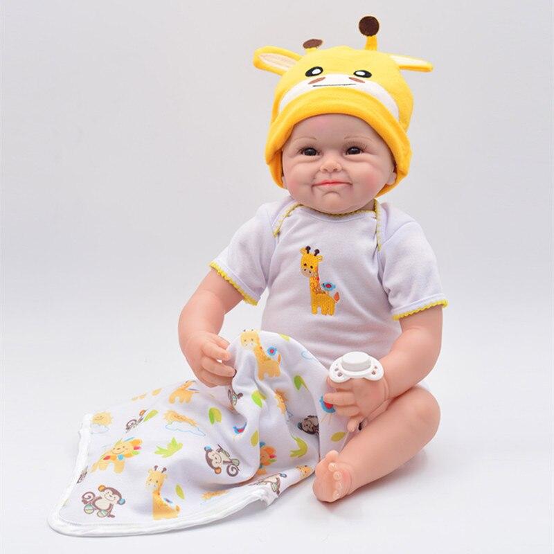22 polegada 55cm silicone reborn bebê bonecas bebe reborn boneca corpo de silicone menina bebê bonecas presentes de natal lol boneca surpresa