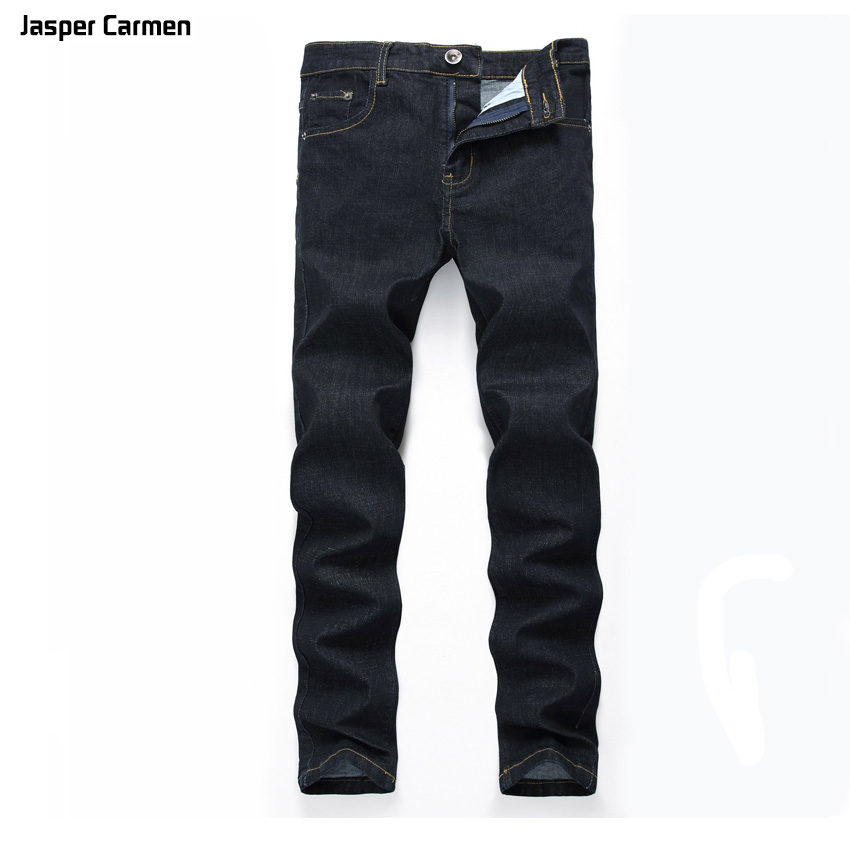 2017 Men's Jasper Carmen Brand original color straight jeans elastic men causal fashion dark denim trousers male solid jeans 45 kent jasper twelve