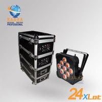 (Упаковка из 24) раша hex суть V9 6in1 RGBAW + УФ IRC Батарея работает LED PAR света для дискотеки свадьбы события 7 /12ch
