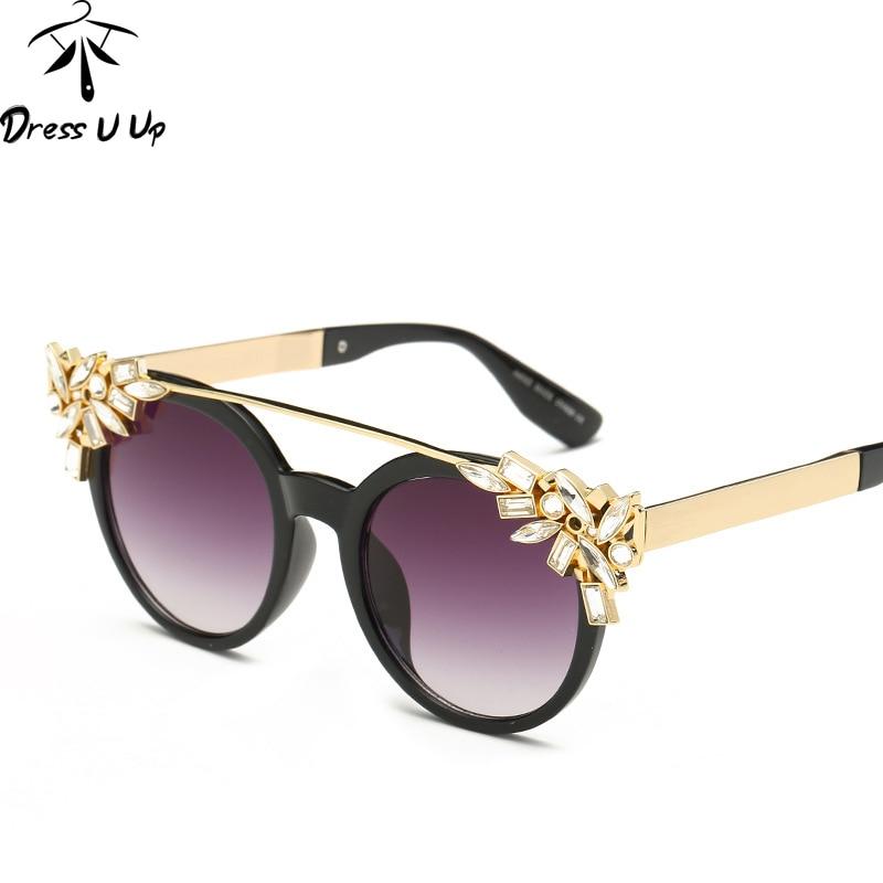 DRESSUUP Luxo Diamante Retro Cat Eye Sunglasses Mulheres Marca Designer  UV400 Óculos de Sol Da Moda Gafas de sol Feminino Mujer 89bd5edbc0