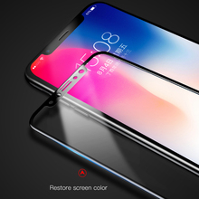 Baseus 0.2mm Silk-Screen Tempered Glass Film for iPhone X