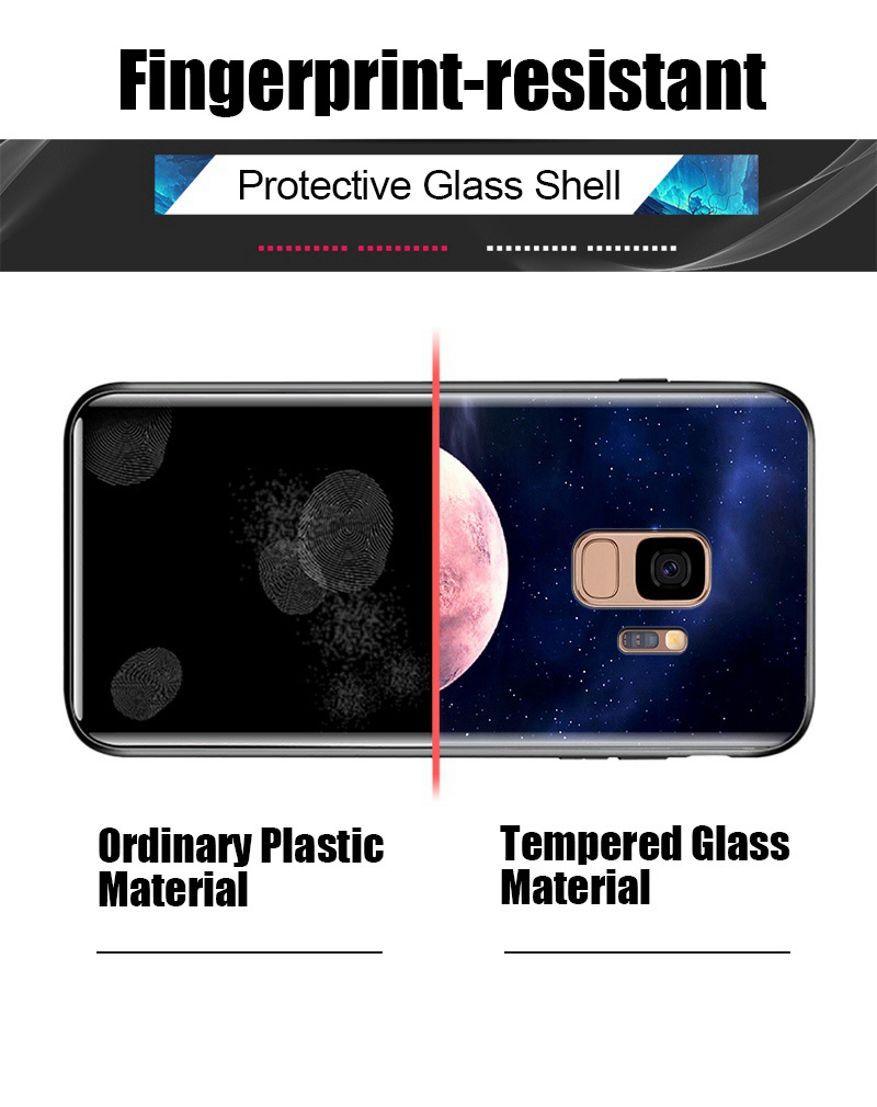 Odifren Space Case for Samsung Galaxy S9 S9 Plus Case Note 9 Tempered Glass Cover Coque Phone Cases for Samsung Galaxy Note 8 9 (17)