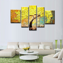 HASYOU Frameless Cherry Blossoms Landscape Handpainted Painting Summer Unique Gift Acrylic Picture Flower Tree Oil