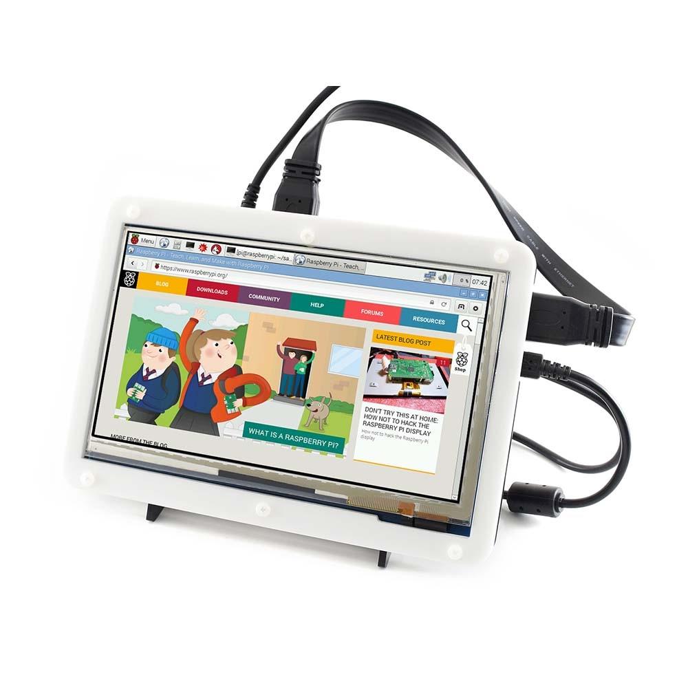Waveshare 7inch HDMI LCD (C) երկկողմանի պատյանով, - Համակարգչային արտաքին սարքեր - Լուսանկար 4