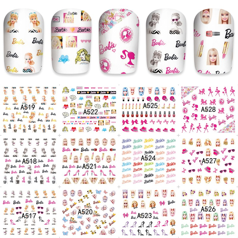 12 Sheets Toy Doll Design Nail Art Water Transfer Decals NAIL STICKER SLIDER TATTOO Nail Accessories Beauty Tools A51-7528