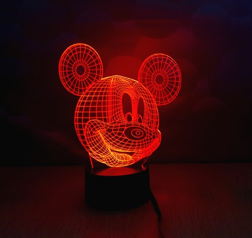 Christmas Decorations For Home MICKEY MOUSE Cartoon 3D Night Light Table Lamp Children Bedroom With Changeable Color YJM2850
