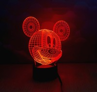 Christmas Decorations for Home MICKEY MOUSE Cartoon 3D Night light Table Lamp for Children Bedroom with Changeable Color YJM2850