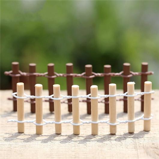 cm miniatura de madera de la ronda valla barrera jardn artesana decoracin ornamento planta maceta