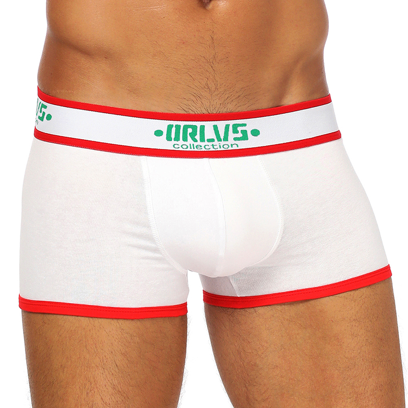 ORLVS Brand Male Panties Breathable Cotton Boxer Men Underwear U Convex Pouch Sexy Underpants Shorts Gay Boxers Homme