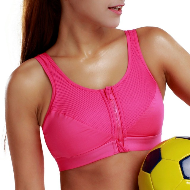 New Women's High Impact Level 3 Zipper Front X-shape Back Wirefree active Bra