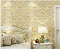 beibehang European luxury embossed environmentally friendly nonwoven interior living room Damascus papel de parede 3d wallpaper
