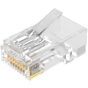 Image 2 - RJ45 connecteur Cat 6 Plug 8P8C modulaire réseau Ethernet LAN câble Cat 6 tête prise 20 pièces 50pcs 100 pièces RJ45 Cat6 sertissage connecteur