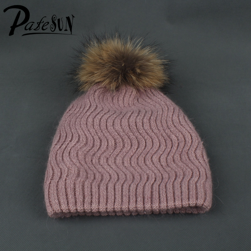 Solid Women Wool Skullies Beanies Strips Casual Hats for Ladies Girls Fur Pom Poms Knitted Gorros Female Caps rosicil skullies beanies winter hats for women letter beanies women hip hot caps skullies girls gorros women beanies female
