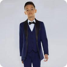 Темно синие костюмы для мальчиков на свадьбу черный приталенный