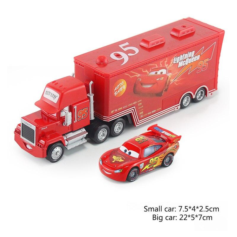 Дисней Pixar Тачки 2 3 игрушки Молния Маккуин Джексон шторм мак грузовик 1:55 литая под давлением модель автомобиля для детей рождественские подарки - Цвет: Two cars 2