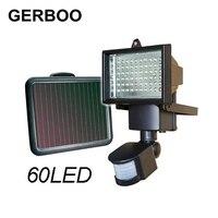 GERBOO LED Solar Light Outdoor Garden Path Wall Spotlights PIR Motion Sensor 60 LED Security Street