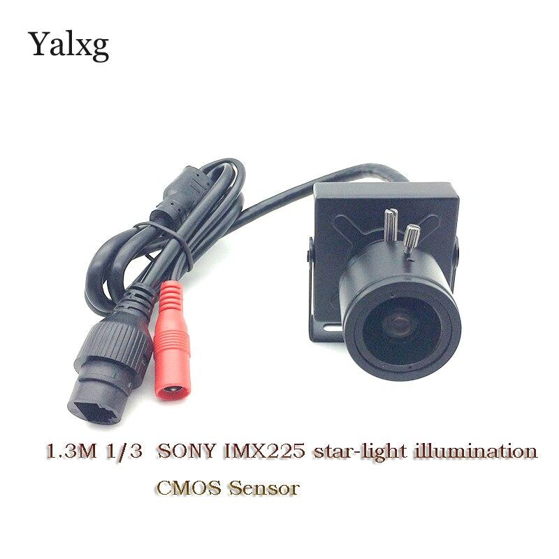 """""""Yalxg"""" namų apsaugos patalpų IP HD 960P 1/3 """"SONY IMX225 žvaigždžių apšvietimas Mini IP vaizdo stebėjimo mažiausia stebėjimo kamera"""