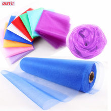 5/10meter Tulle Roll Sheer Organza Tule voor Thuis Bruiloft Decoratie party Baby Shower DIY Tutu Shirt Craft breedte 48cm 5z(China)