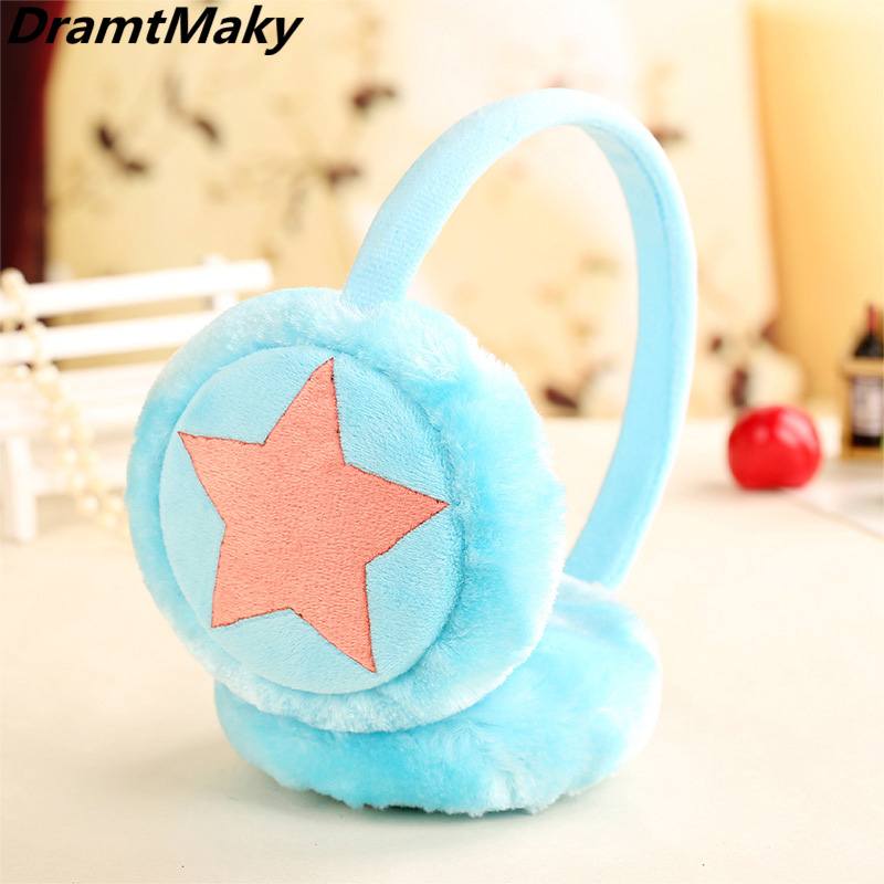 Five Star Child Earmuffs Boys And Girls Winter Warm Cartoon Plush Children Earmuffs Kids Headphones4-5 Years Old Or More Adult