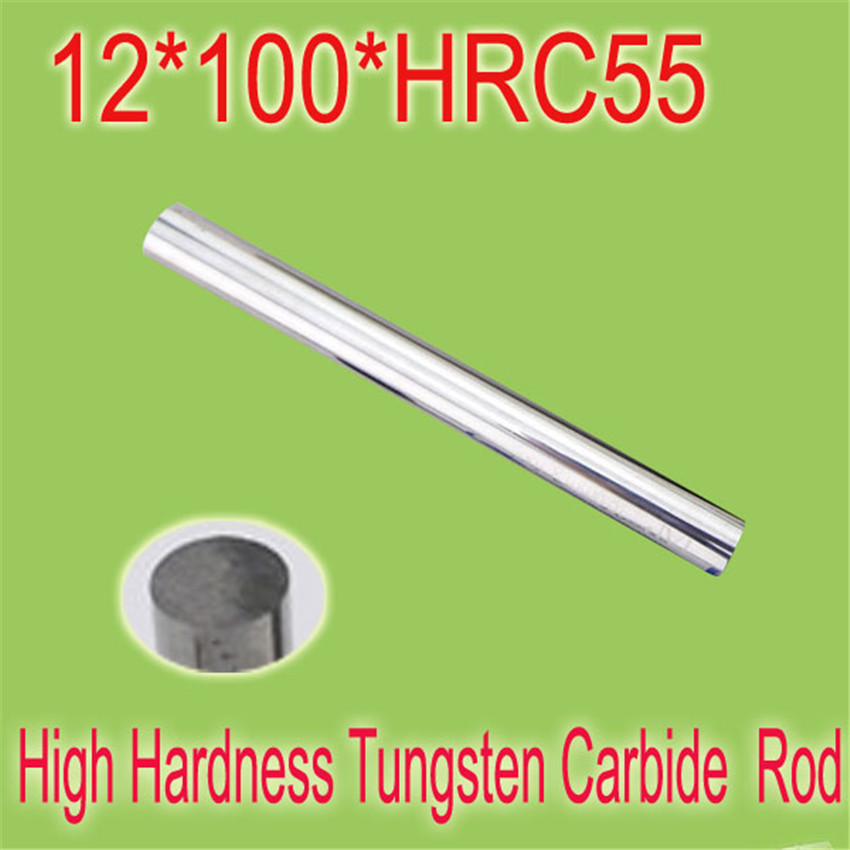 2pcs 12mm * 100mm HRC55  Cylindrical Tungsten Carbide Rod Grindering Raw Material Free Shipping 2pcs 10mm 100mm hrc55 cylindrical tungsten carbide rod grindering raw material free shipping to all countries