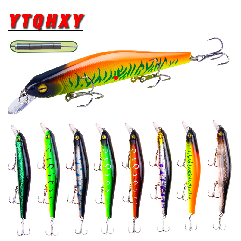 YTQHXY 1Pcs 2018 New Fishing Lure Minnow Topwater Artificial Bait 125mm 7.3g Hot Sale Wobbler Everything For Fishing Tackle WQ88