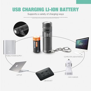 Image 5 - NICRON Mini LED Flashlight Keychain 3W USB Rechargeable Compact Lamp Torch Light Waterproof 3 Modes For Household Outdoor etc