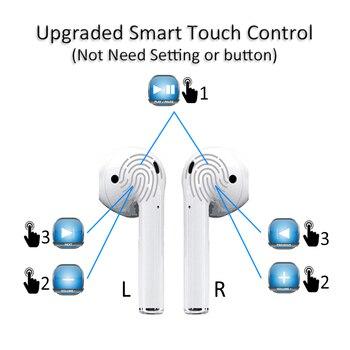 New i10 tws Bluetooth 5 0 Earphone Wireless Earphones Touch Control