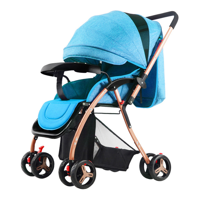 Light Baby Stroller 175 Degree Lying Reversable Push Handle Folding Portable Travel Car Airplane Baby Carriage Pram Buggy 0~36M 4