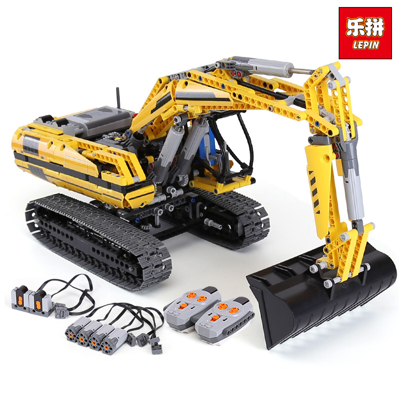 Lepin 20007 Technic MOTORIZED EXCAVATOR Building Blocks Electric Motors Power Functions Model Bricks Compatible legoinglys 8043