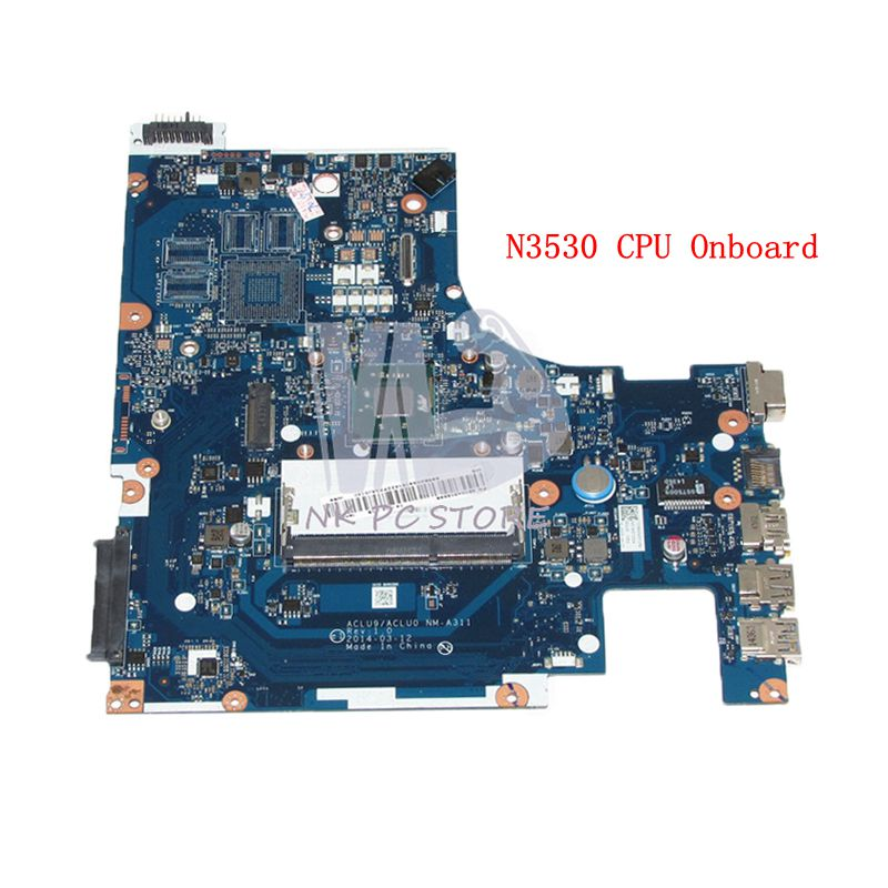 NOKOTION BRAND NEW ACLU9 / ACLU0 NM-A311 MAIN BOARD For Lenovo G50 G50-30 Laptop Motherboard DDR3 with N3530 CPU Onboard hot in russian g50 30 laptop motherboard fit for lenovo aclu9 aclu0 nm a311 main board ddr3 with processor on board