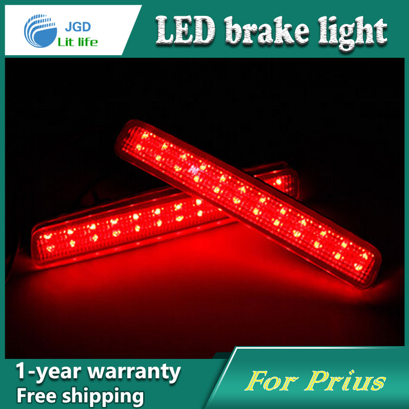 Car Styling Rear Bumper LED Brake Lights Warning Lights case For Toyota Prius Accessories Good Quality