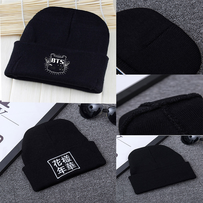 Autumn Winter Outdoors Warm Knit Cap Men And Women Fashion All-match Skullies & Beanies Casual Solid Black Headgear Lovers Caps
