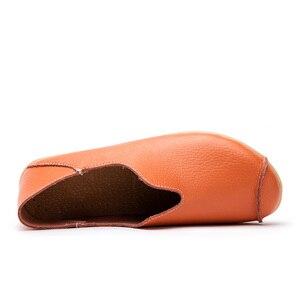 Image 4 - Fevral 春夏女性スプリットレザーカジュアル中空靴ファッション通気性女性モカビッグサイズ 35 〜 44
