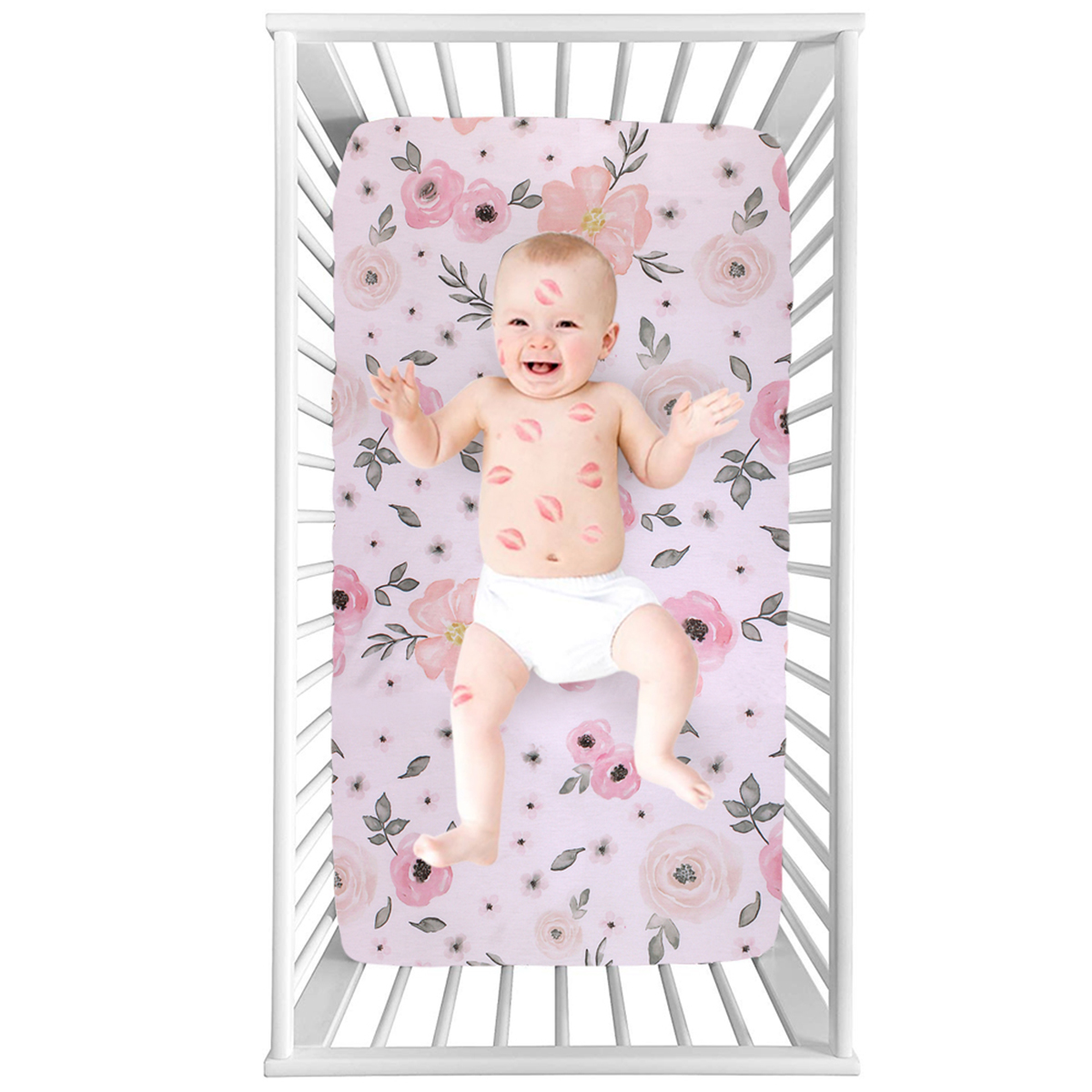 Baby Crib Sheet Urine Changing Pads Urine Pad Floral Printed Reusable Infant Bedding Nappy Burp Mattress Changing Mat