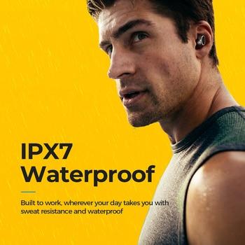 спортивные наушники Bluetooth | Mpow T6 Bluetooth 5,0 TWS наушники беспроводные наушники с громкой связью мини наушники IPX7 водонепроницаемые с 21 ч плей тайм сенсорное управление Нови...