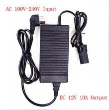 120 Вт Силового преобразователя ac 220 В (100 ~ 240 В) входной dc 12 В 10A выход адаптер автомобиль питания прикуривателя