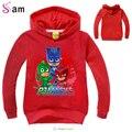 Impresión de la letra PJMASKS Bebé Niños Moda Hoodies Largo SleeveT shirts Niños Abrigos Niñas de Dibujos Animados Lindo Tops