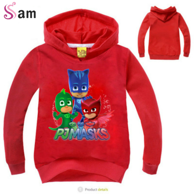 Letter Printing PJMASKS Baby Boys Fashion Hoodies Long SleeveT shirts  Children Coats Girls Cartoon Cute Tops-in T-Shirts from Mother & Kids
