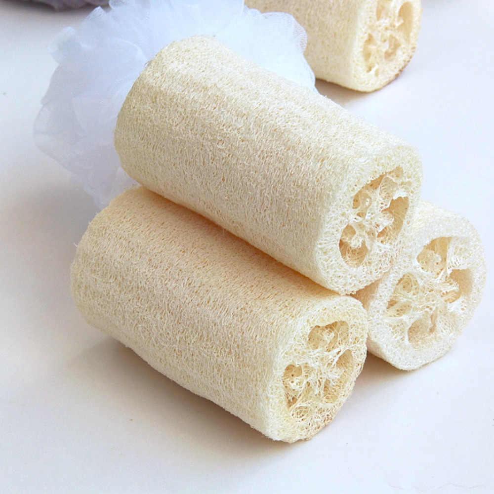 جيدة بيع 1 قطعة الطبيعي Loofa حمام دش سبا ينظف اللوف الإسفنج الجسم الغسيل القسوة مزيل اللوف الجسم عاء وعاء غسل