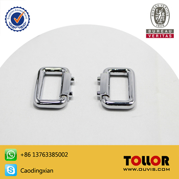 High Quality Bag Parts Metal Square Buckle For Handbag Die-casting Zinc Alloy DIY Ring Hardware Luggage Travel Accessories