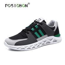 POSTOBON 2019 New Men Sports Shoes Casual Shoes Lightweight Comfortable Breathable Black Walking Sneakers Feminino Zapatos